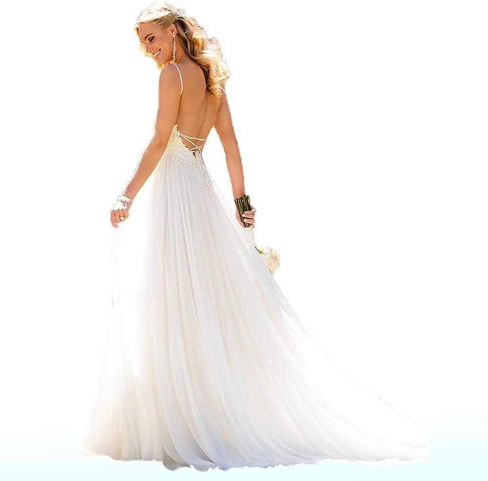 Buy Wedding Dress for Bride 20,Beach Vintage A Line Backless ...