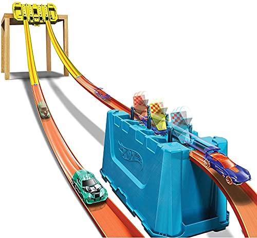 Caixa Pista Hot Wheels Multi-Lane Track Builder Build, GLC95, Mattel