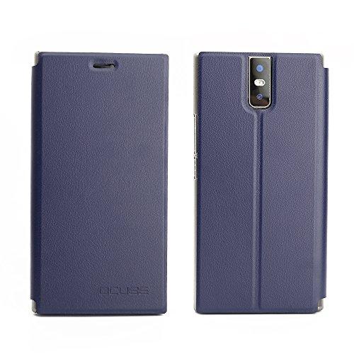 Frlife Hülle für Oukitel K3, Bookstyle Handyhülle Premium PU-Leder klapptasche Case Brieftasche Etui Schutz Hülle für Oukitel K3 Blau