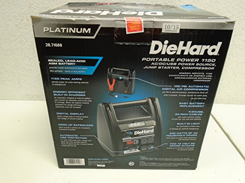 Learn More About DIEHARD JUMPSTARTER1150A by DIEHARD MfrPartNo 71688