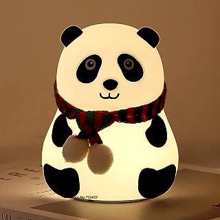 Goeco LED Night Lights Colorful Silicone Panda Lamp, USB Ricaricabile Touch Sensor Cartoon Light Dormitorio Camera da Lett...