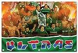 Ultras-Art RapidFans Bild auf PVC Plane/PVC Banner inkl Ösen, Maße: 120x80 cm