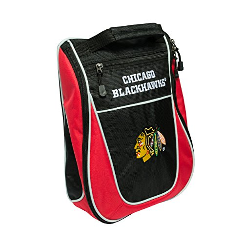 Team Golf NHL Chicago Blackhawks Travel Golf Shoe Bag, Reduce Smells, Extra Pocket for Storage, Carry Handle