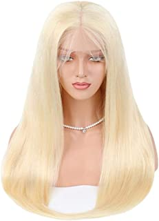 """Hairpieces Hairpieces Fashian Full Lace Real Natural for Women Front Synthetic Wigs Long Straight Heat Resistant Hair Pre Plucked Wig with Real Hair for Daily Use and Party (Size : 12"""")"""
