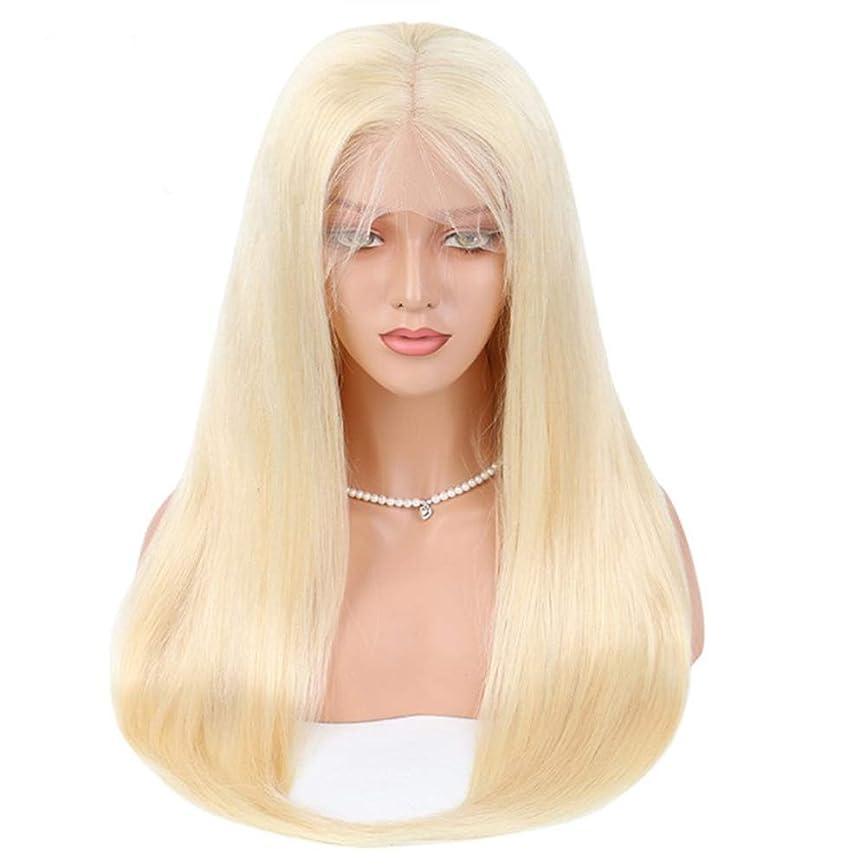 蒸植物の化合物BOBIDYEE フルレースリアルナチュラル女性用フロントかつらロングストレート耐熱毛プレ摘み取ら本物の毛髪かつらかつらロールプレイングかつら (サイズ : 20