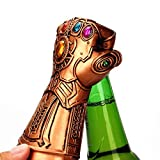 Abridor de botellas de cerveza, Marvel Infinity War Infinity Gauntlet Thanos Glove Beer Wine Bottle Cap Opener ideal para bares, fiestas, amantes de la cerveza