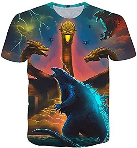 Camiseta Plateada Camiseta, Impresión En 3D, Manga Corta Películas Ciencia Ficción, Camisa Verano Unisex con Cuello Redondo