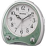 リズム(RHYTHM) 目覚まし時計 アナログ 連続秒針 アリアカンタービレN 38曲高音質 メロディ 搭載 緑 RHYTHM 8RM400SR05