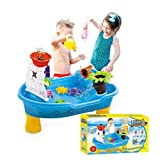 Lroplie Sand Water Tables for Outdoor Toys for Toddlers Suitable for Age 2-4 - Large Pirate Ship (Multicolour)