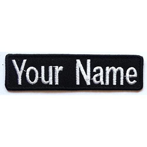 Custom Name Patch 4 x 1 Embroidered Iron On//Sew On Personalized