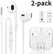 Earbuds/Earphones/Headphones, Premium in-Ear Wired Earphones with Remote & Mic Compatible 6s/plus/6/5s/se/5c/MP3 (White)