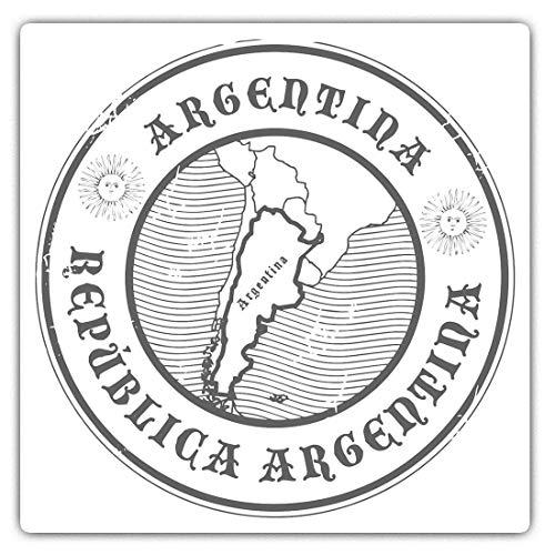 2 pegatinas cuadradas de vinilo de 7,5 cm, diseño de mapa de la República Argentina 40627