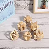wosume Fácil de limpiar. Puzzle de madera. 6 piezas de juguetes educativos inteligentes para bebés.