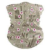 SunsetTrip New York - Bandana multifunzione a forma di fiore di ciliegio, per sport, escursionismo, corsa, moto