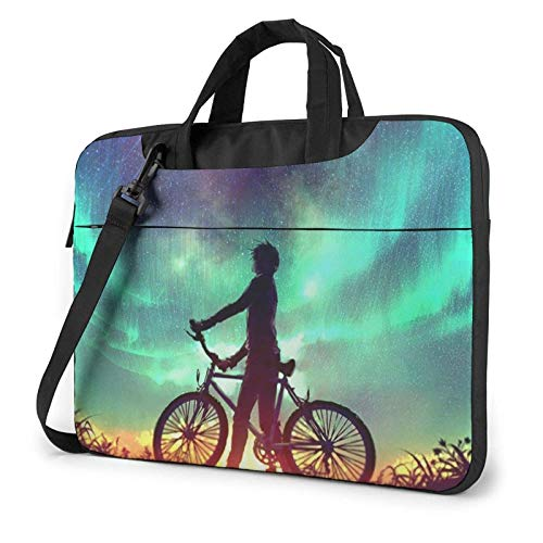 XCNGG Computertasche Umhängetasche Laptop Bag, Piano Fish Cat Boy Business Briefcase Protective Bag Cover for Ultrabook, MacBook, Asus, Samsung, Sony, Notebook 13 inch