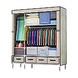 ZZYE Armario de tela Organizador de ropa para armario, ropa de armario Organizador de almacenamiento de armario portátil...