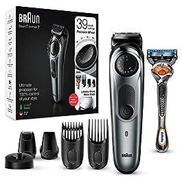 Braun 7 Tout-En-Un Tondeuse Électrique Homme Cheveux Et Barbe, Noir/Argent Métallisé, Lames Affûtées Et Inusables…
