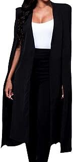 JESPER Women Loose Long Cloak Blazer Coat Cape Cardigan Jacket Trench Suit for Work