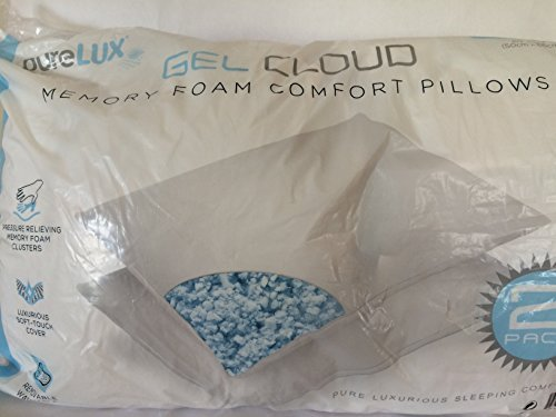 Purelux Pure Lux Gel Cloud Memory Foam Comfort Pillows
