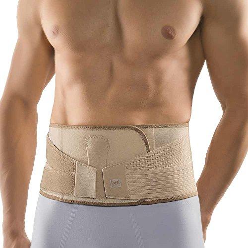 Bort Vario Rückenbandage Pelotte Lendenwirbel Rücken Bange Stütze unelastisch, hautfarben, M