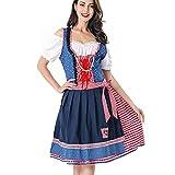 AOCRD Oktoberfest - Vestido tradicional bávaro para mujer, vestido de tirolés, estilo moderno, vestido de cerveza, cuello en U, manga corta, tallas M y XL, multicolor, M