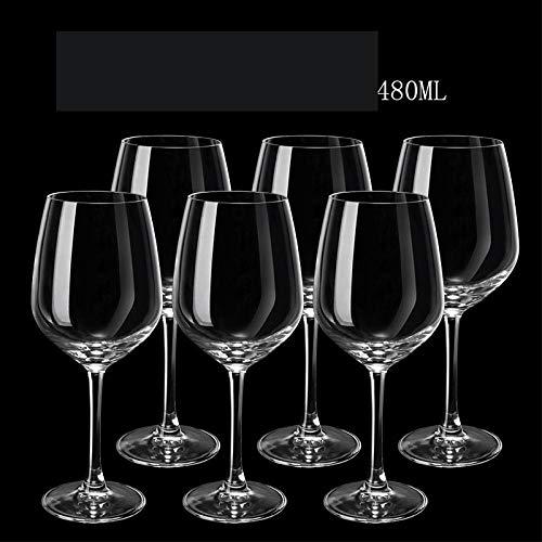 N/A Set di Bicchieri da Vino, Bicchiere da Vino in Cristallo Grande per Uso Domestico, Decanter, Calice per Coppia - Solo 480 ml6
