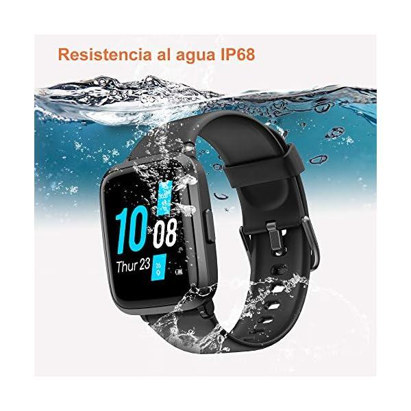 YAMAY Smartwatch con Oxímetro de Pulso Esfigmomanómetro y Pulsómetro Reloj Inteligente Impermeable para Hombre Mujer… 7