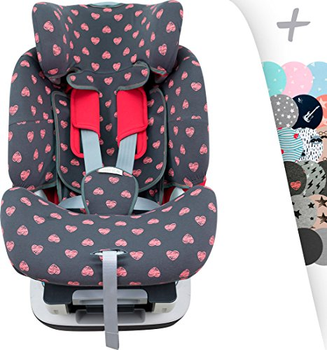 JANABEBE Custodia per Chicco Seat Up 0 1 2 e YOUniverse (Fluor Heart)
