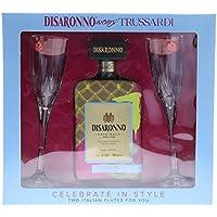 Disaronno Wears Trussardi with Two Italian Flute Glasses