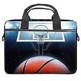 TIZORAX Laptoptasche Baseball und Hoop Notebook Sleeve mit Griff 38,1-39,1 cm Tragetasche Schultertasche Aktentasche