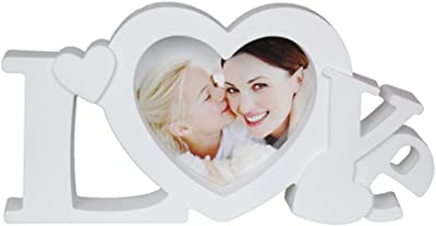 All Smiles Love Picture Frame Mom Grandama Photo Frames Words Heart Shaped Decor for Wedding Valentine