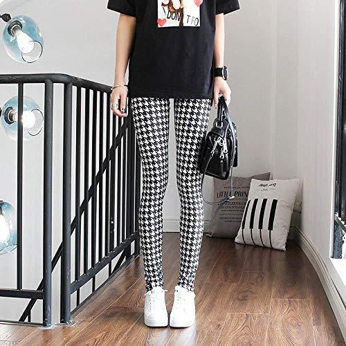 Leggings 1Pc Leggings Für Frauen Push Up Leggins Damen Mid Taist Stripe Dot Print Leggins Polyester Slim Fitness Hose S Hahnentritt Gratis Versand