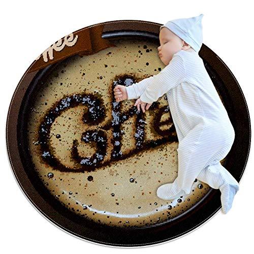 Shiiny A Coffee Cup - Alfombrilla para puerta (redonda, lavable, antideslizante, para sala de estar, dormitorio, estudio, sala de juegos