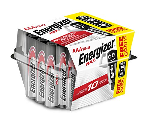 Energizer Alkaline Max - Pack de 18+8 pilas Alcalinas MAX AAA