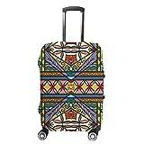 Ruchen - Funda para maleta geométrica tribal étnica multicolor