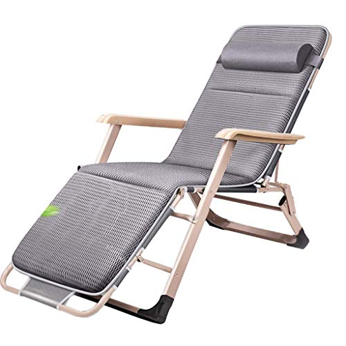 AYHa Sillas taburete gravedad cero silla extra ancho ajustable Tumbona con 4D transpirables y acolchados Pad Reposacabezas para la playa Patio Jardín camping al aire libre de interior,con el amortigu