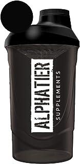 ALPHATIER BEASTMODE Shaker zwart 600 ml voor onderweg - Sport Fitness Bodybuilding - met schroefdop en zeefinzet - BPA-vri...