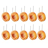 uxcell 10Pcs Vertical Toroid Magnetic Inductor Monolayer Wire Wind Wound 47uH 5A Inductance Coil