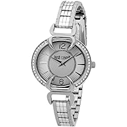 Luxury Silver Dial and Bracelet Watch with Rhinestones - 7253534506