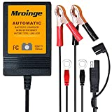 Trickle Charger, Mroinge 12V Automatic Smart Battery Charger and Maintainer, 1000mA Battery Float...
