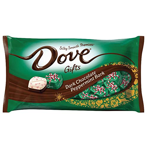 DOVE PROMISES Dark Chocolate Peppermint Bark Christmas Candy, Delicious Candy Gifts, 7.94 oz. (Pack of 4)