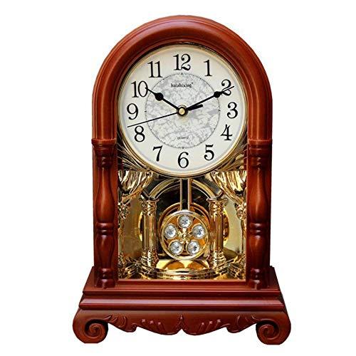 UWY Reloj de Escritorio, Reloj de Abuelo Reloj de sobremesa Mute Manto Reloj de Escritorio Relojes Retro Relojes creativos para la Sala de Estar Reloj de péndulo Vintage Relojes de sobremesa