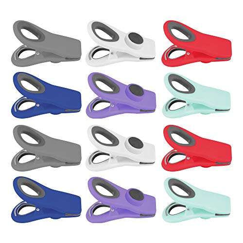 ZCHEN Bag Clips Magnets Clips Stick to The Refrigerator Multi Tool Clips For Meeting Report Food Airtight Seal Kitchen Storage Multicolor 12