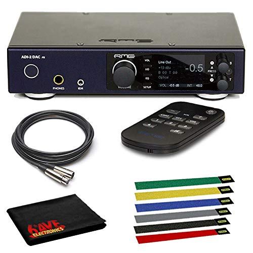 RME ADI-2 DAC High-Resolution USB DAC Bundled with 3 x XLR Cables, Cable Ties and 1-Year Additional Warranty