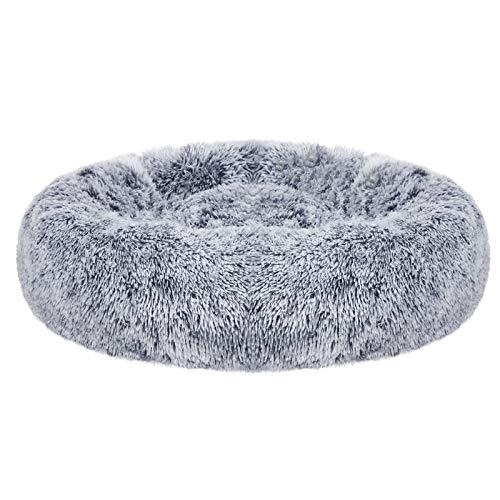 FEANDREA UPGW037G01 - Cama para gato, superficie de felpa suave, diseño de donut con cojín interior extraíble, lavable, 20 pulgadas...