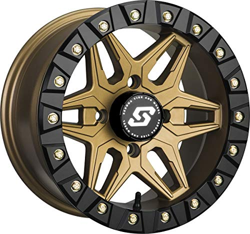 Sedona Split 6 Beadlock 15x6 ATV/UTV Wheel - Bronze 4/156-5+1