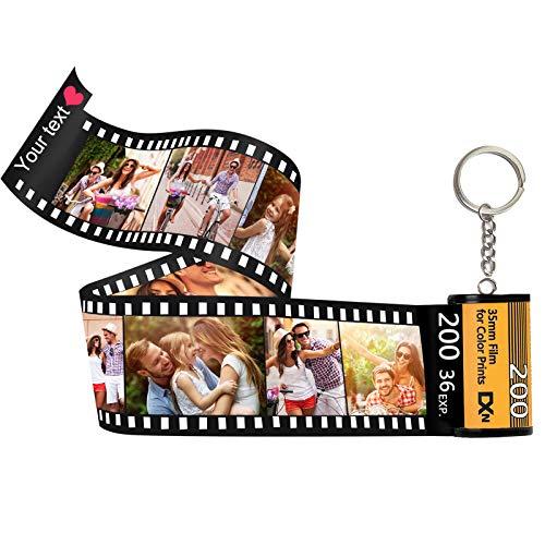 Llaveros Personalizados con Foto Película Álbum Llavero,Llaveros Personalizadas Fotos múltiples Vistoso para Parejas Hombre Mujer, Personalizados Regalos Navidad Día De San Valentín