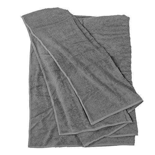 FelAWie XXL Strandtuch – Handtuch in Übergröße in der Farbe grau
