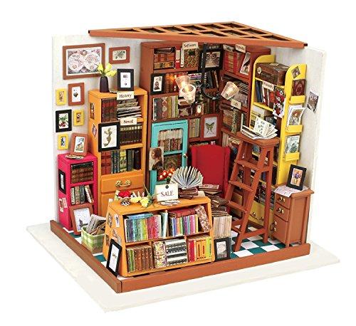 La Vida en Led DIY Casa de Muñecas Miniatura Estudio Biblioteca Puzzle 3D