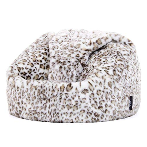 """Icon Sitzsack aus Kunstpelz """"Leopard"""" für Kinder, Leopard, Sitzsäcke für Kinder, 65cm x 45cm, Groß, Sitzsäcke für das Wohnzimmer, Schlafzimmer, Kunstpelz"""